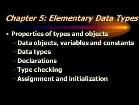 آزمون پنجم- انواع داده اولیه